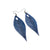 Terrabyte 10 // Leather Earrings - Navy Blue