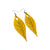 Terrabyte 10 // Leather Earrings - Yellow