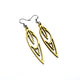 Totem 02 [S] // Leather Earrings - Gold - LIGHT RAZOR DESIGN STUDIO