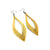 Terrabyte 08 // Leather Earrings - Gold
