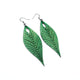 Terrabyte 10 // Leather Earrings - Green