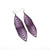 Terrabyte 17 // Leather Earrings - Light Purple