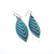 Terrabyte 14 [S] // Leather Earrings - Light Blue - LIGHT RAZOR DESIGN STUDIO