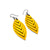Terrabyte 14 [S] // Leather Earrings - Yellow - LIGHT RAZOR DESIGN STUDIO