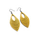 Terrabyte 06 // Leather Earrings - Gold