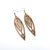 Totem 06 [L] // Wood Earrings - Jatoba