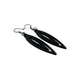 Totem 07 [S] // Leather Earrings - Black - LIGHT RAZOR DESIGN STUDIO