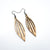 Petal 04 [S] // Wood Earrings - Mahogany