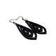 Gem Point 07 [M] // Leather Earrings - Black - LIGHT RAZOR DESIGN STUDIO