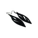 Petal 02 [S] // Leather Earrings - Black - LIGHT RAZOR DESIGN STUDIO