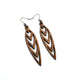 Totem 05 [S] // Wood Earrings - Walnut - LIGHT RAZOR DESIGN STUDIO