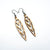 Totem 05 [S] // Wood Earrings - Mahogany