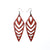 Arrowhead 03 [L] // Leather Earrings - Red - LIGHT RAZOR DESIGN STUDIO