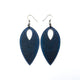 Terrabyte v.07_1 // Leather Earrings - Navy Blue - LIGHT RAZOR DESIGN STUDIO