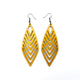 Terrabyte v.18 // Leather Earrings - Gold - LIGHT RAZOR DESIGN STUDIO