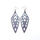 Arrowhead 02 [L] // Leather Earrings - Purple Pearl - LIGHT RAZOR DESIGN STUDIO