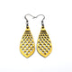 Gem Point 01 [S] // Leather Earrings - Gold - LIGHT RAZOR DESIGN STUDIO