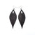 Terrabyte 10 // Leather Earrings - Black