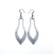 Terrabyte 02_2 // Leather Earrings - Silver - LIGHT RAZOR DESIGN STUDIO