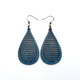 Drop 05 [S] // Leather Earrings - Navy Blue - LIGHT RAZOR DESIGN STUDIO