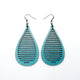Drop 05 [L] // Leather Earrings - Turquoise Pearl - LIGHT RAZOR DESIGN STUDIO
