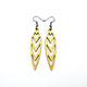 Totem 05 [S] // Leather Earrings - Gold - LIGHT RAZOR DESIGN STUDIO