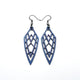 Arrowhead 01 [S] // Leather Earrings - Purple Pearl - LIGHT RAZOR DESIGN STUDIO