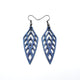 Arrowhead 02 [S] // Leather Earrings - Purple Pearl - LIGHT RAZOR DESIGN STUDIO