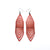 Terrabyte 17 // Leather Earrings - Red Pearl