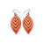 Terrabyte 14 [S] // Leather Earrings - Light Red - LIGHT RAZOR DESIGN STUDIO