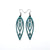 Totem 06 [S] // Leather Earrings - Turquoise - LIGHT RAZOR DESIGN STUDIO