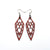 Arrowhead 01 [S] // Leather Earrings - Red - LIGHT RAZOR DESIGN STUDIO