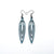 Totem 01 [S] // Leather Earrings - Blue Pearl - LIGHT RAZOR DESIGN STUDIO