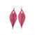 Terrabyte 10 // Leather Earrings - Light Fuchsia