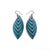 Terrabyte 14 [S] // Leather Earrings - Medium Blue - LIGHT RAZOR DESIGN STUDIO