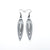 Totem 01 [S] // Leather Earrings - Silver - LIGHT RAZOR DESIGN STUDIO