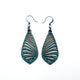 Gem Point 09 [S] // Leather Earrings - Turquoise - LIGHT RAZOR DESIGN STUDIO