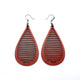 Drop 05 [L] // Leather Earrings - Red - LIGHT RAZOR DESIGN STUDIO