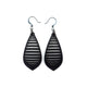 Gem Point 12 [M] // Leather Earrings - Black - LIGHT RAZOR DESIGN STUDIO