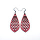 Gem Point 01 [M] // Leather Earrings - Red - LIGHT RAZOR DESIGN STUDIO