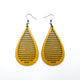 Drop 05 [L] // Leather Earrings - Gold - LIGHT RAZOR DESIGN STUDIO
