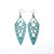 Arrowhead 01 [L] // Leather Earrings - Turquoise Pearl - LIGHT RAZOR DESIGN STUDIO