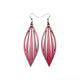 Petal 04 [L] // Leather Earrings - Fuchsia Pearl - LIGHT RAZOR DESIGN STUDIO
