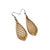 Gem Point 12 [S] // Wood Earrings - Canarywood