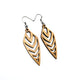 Arrowhead 03 [S] // Wood Earrings - Canarywood