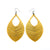 Terrabyte 15 // Leather Earrings - Gold