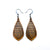 Gem Point 12 [S] // Wood Earrings - Bolivian Rosewood