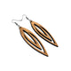 Totem 07 [L] // Wood Earrings - Jatoba