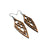 Arrowhead 01 [S] // Wood Earrings - Bolivian Rosewood