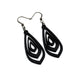 Gem Point 07 [S] // Leather Earrings - Black - LIGHT RAZOR DESIGN STUDIO